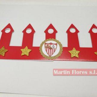 Corona cumpleaños escudo Equipo fútbol