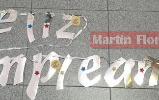 Guirnalda Feliz cumple Mario Bross
