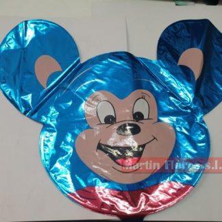 Globo palillo cabeza ratón azul