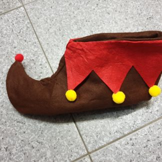 Cubre bota duende o elfo infantil marrón