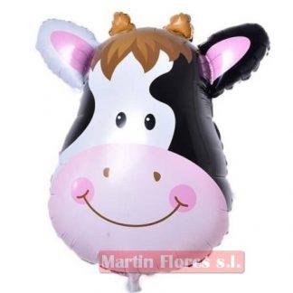 Globo metalizado vaca