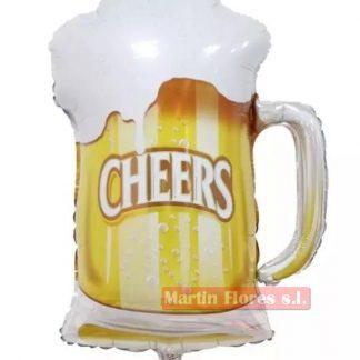 Globo palillo jarra cerveza