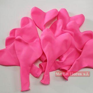 Globo forma corazón rosas