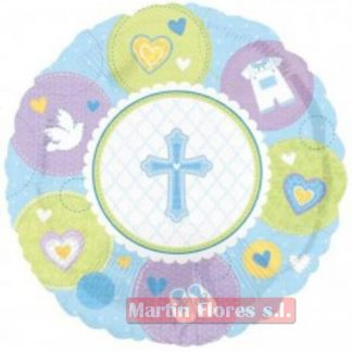 Globo cruz o bautizo