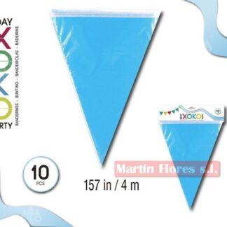 Banderín triángulos celeste