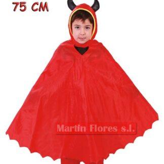 Capa diablo roja infantil